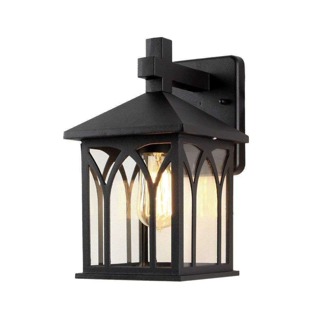 YWJWJ Lampada da Parete per Esterni Illuminazione da Giardino per Esterni Installazione a Prova d'Acqua Balcone per corridoi in Alluminio, D21 * H30 LED Centimetri