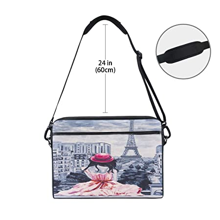 4f40d74de7bf Amazon.com: WXLIFE Vintage Paris Eiffel Tower Girl 13 13.3 14 Inch ...