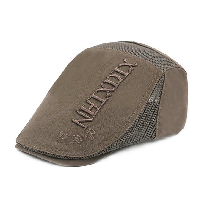 YSTWLKJ Herren&Damen Vintage Schirmmütze Flat Cap Barett Stickerei ...
