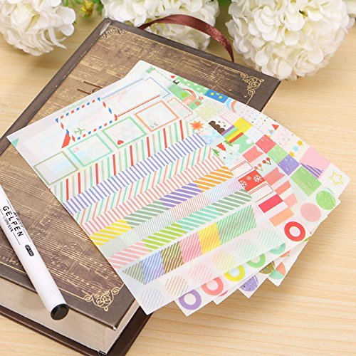 Shalleen 6pcs Cute Transparent Calendar Scrapbook Diary Book Decor Paper Planner Sticker (Tractor Scrapbook Paper)