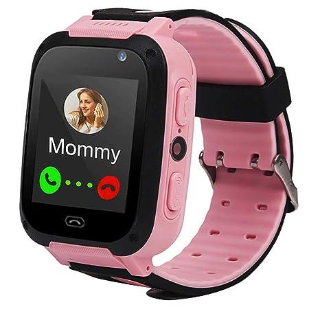 Justdolife Reloj de teléfono Reloj Inteligente de Pantalla táctil Reloj Creativo para niños