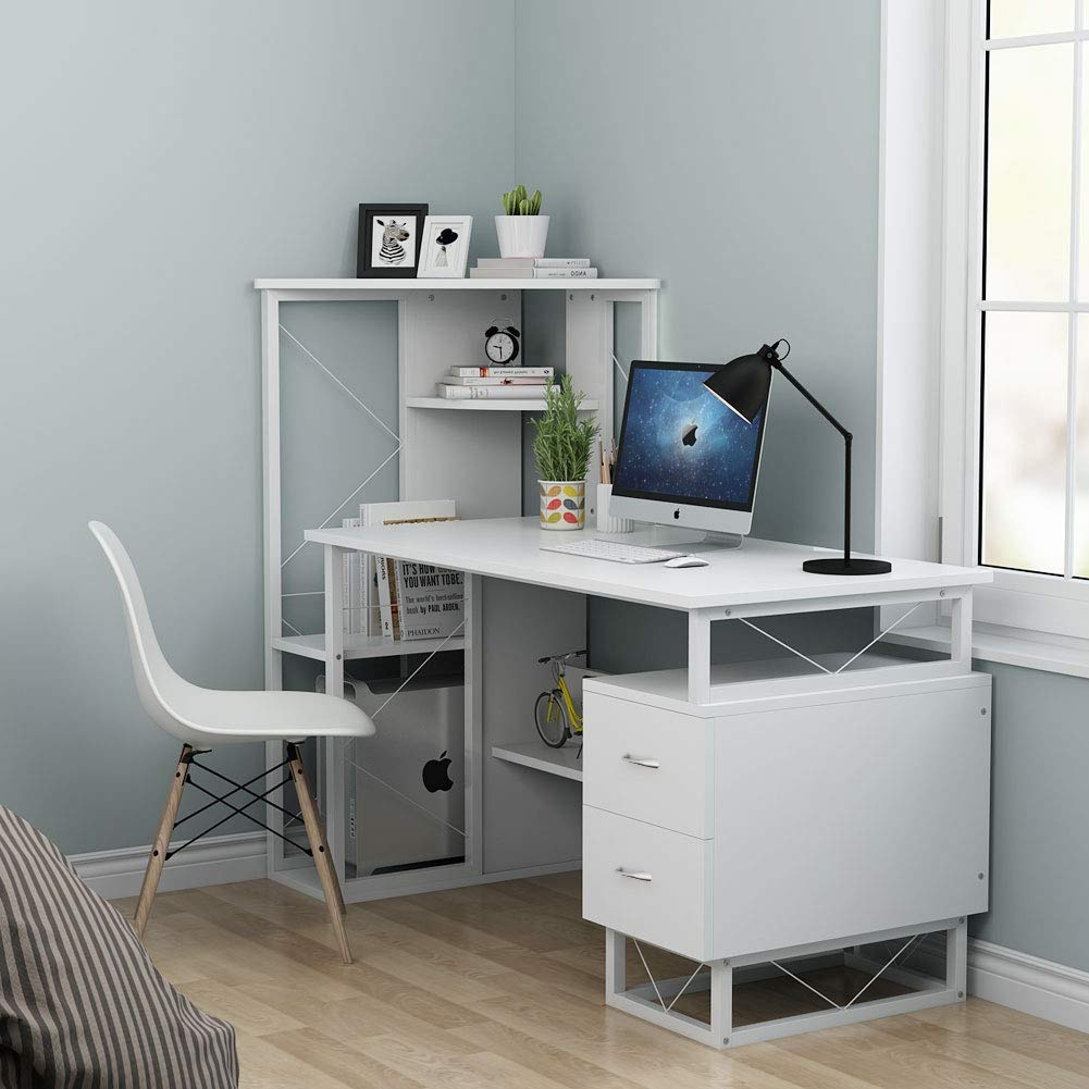 Tribesigns Computer Desk With Drawers, 57 Inches