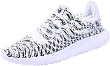 Zapatillas Running Deporte Malla Sin Cordones para Hombre Zapatos para Correr Fitness Sneakers Planas Zapatillas De Deporte De Entrenamiento Deportivo (Blanco, Size:43 26.5cm/10.4