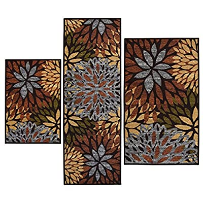 Cleopatra Printed 3-piece Rug Set (Non Skid Backing)