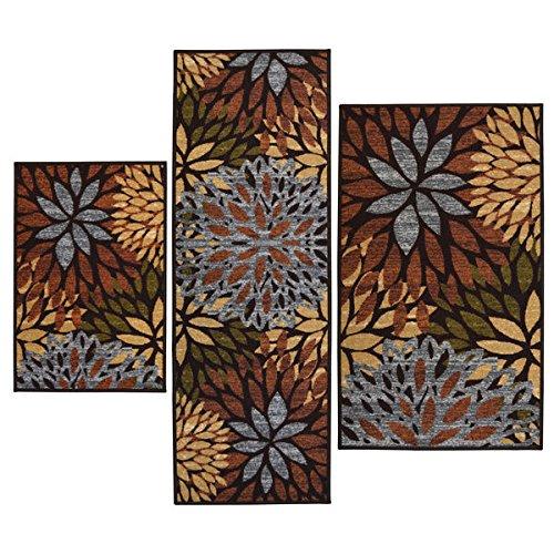 [해외]클레오 파트 라 인쇄 3 피스 러그 세트 (비 스키드 백킹)/Cleopatra Printed 3-piece Rug Set (Non Skid Backing)