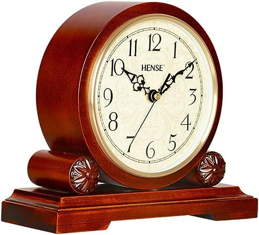 Reloj de Mesa, Reloj de La Chimenea, Retro Silencioso de Madera ...