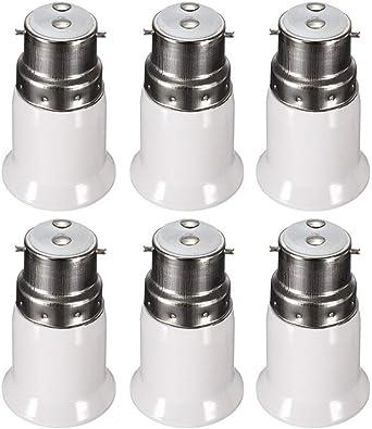 5 Baïonnette BC B22 Vers Edison À Vis Es E27 Ampoule Adaptateur Lampe Convertisseur Support