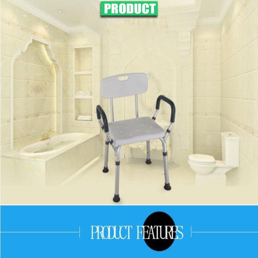 XIHAA Duschhocker Duschsitz Für Senioren mit Tasche und Griffe ...