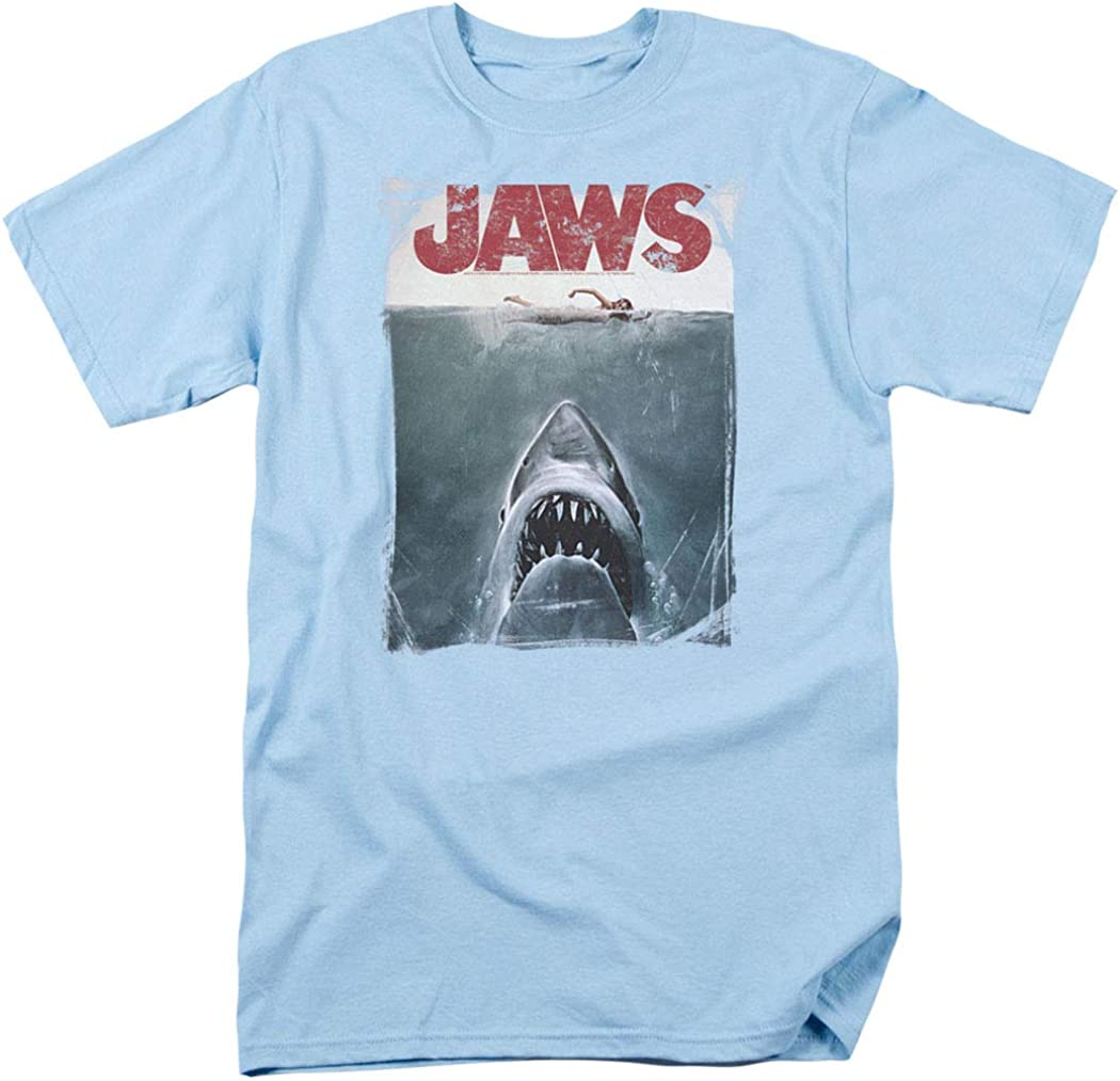 80s Men's Clothing | Shirts, Jeans, Jackets for Guys Jaws Shark Original Movie Poster T Shirt & Stickers $24.99 AT vintagedancer.com