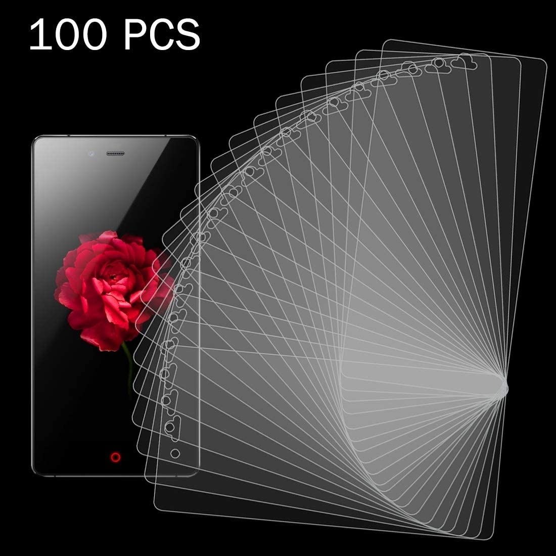 YINZHI Screen Protector Film 100 PCS 0.26mm 9H Surface Hardness 2.5D Explosion-Proof Tempered Glass Screen Film for ZTE Nubia Z9 Mini Clear