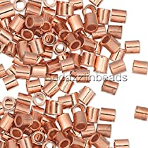 2mm 585CP-01 Pkg of 100 Copper Plated Crimp Beads #1 **CLOSEOUT**