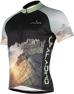 XY-QXZB Tops de Jersey de Bike Hombre Poliéster Materiales Ligeros Seco Rápido Ultravioleta Resistente Transpirable Compresión Ciclismo Manga Corta Jersey