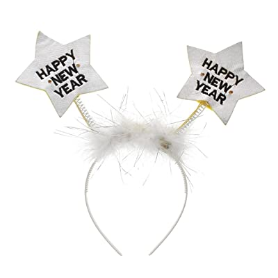 GW Happy New Years Eve LED Light Up Star Headband Party Accessory: Toys & Games