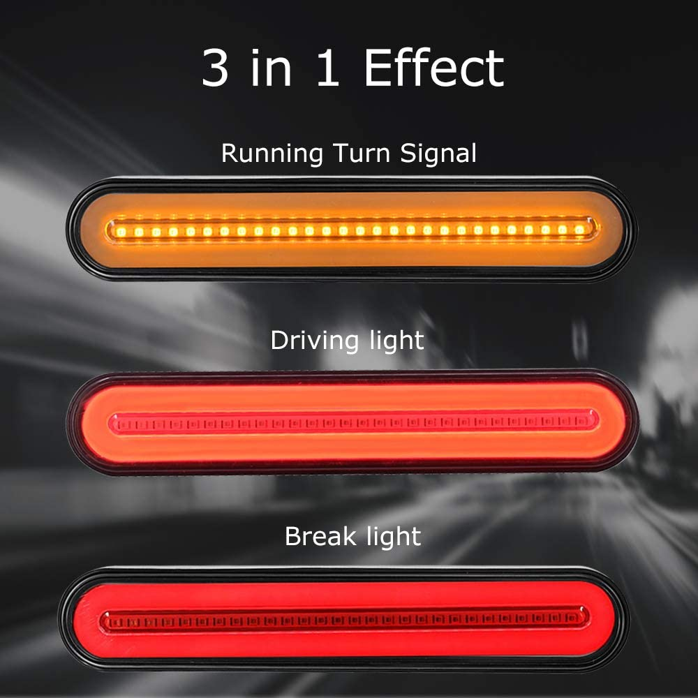 Evermotor Led Truck Trailer Anhänger Rücklicht Dynamisch Sequentiell Fließendes Signallicht Anhänger Rücklicht Stop Turn Bremslicht Für Lkw Bootsanhänger Auto