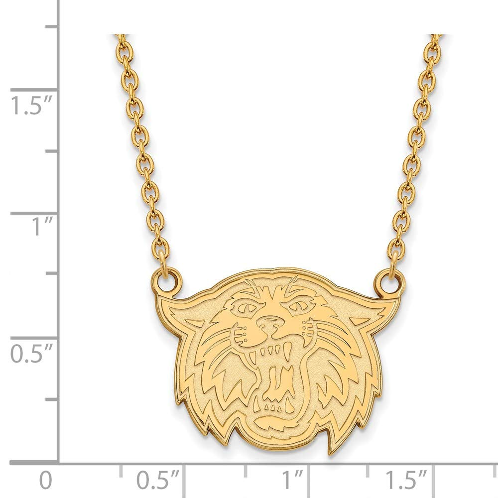 Jewel Tie 925 Sterling Silver with Gold-Toned Villanova University Large Pendant with Necklace