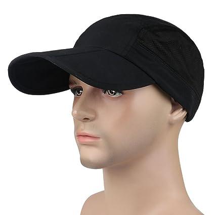 Panegy Outdoor Sport Baseball Cap UPF 50+ Sun Protection Tripper Hat - Black ec1ec301c90f