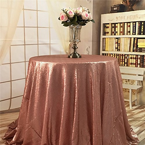 TRLYC 70 Round Champagne Tablecloth