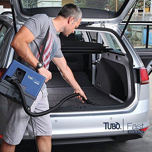 Aspirapolvere soffiatore portatile FAST professionale AERTECNICA con presa elettroutensile potente-leggero-compatto 30x30x28 Potenza 1000 W