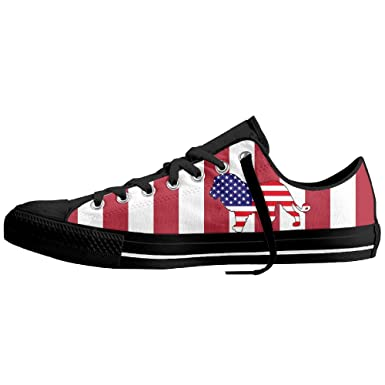 0837350c67 American Flag Lion Low-Top Sneaker Canvas Shoes Man Girls Fashion Sneakers