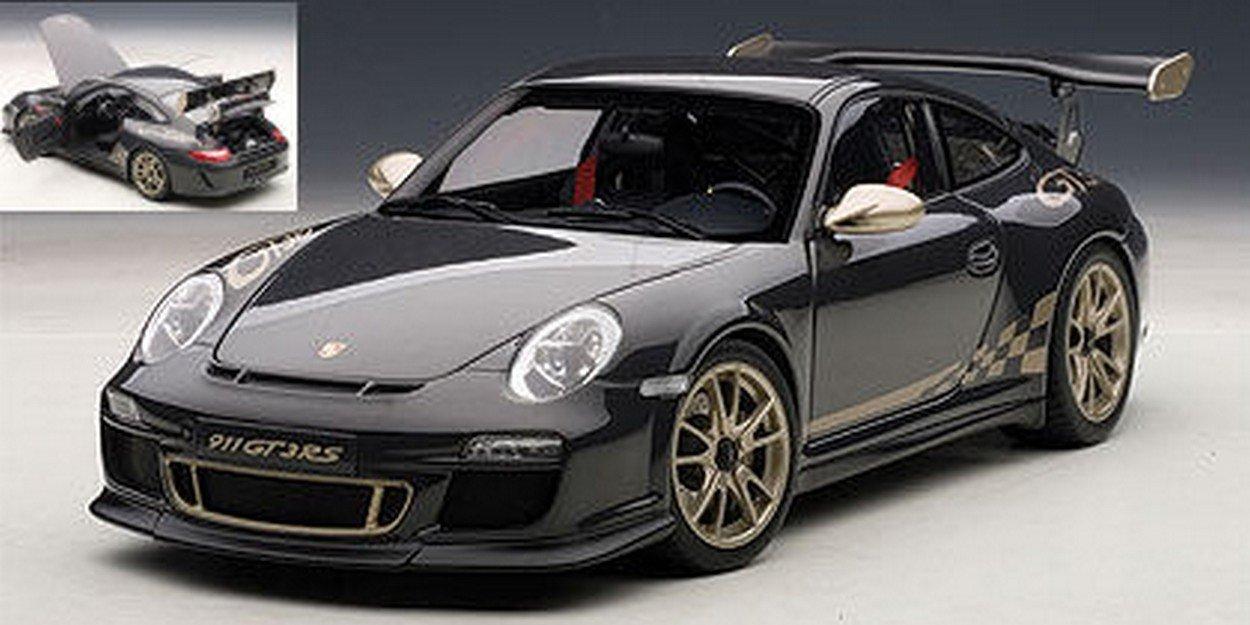 AUTOart AA78142 Porsche 911 (997) GT3 3.8 2011 Nero C/STRISCE Oro 1:18 Die Cast