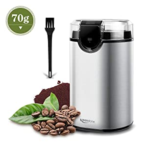 Coffee Grinder Electric Spice Grinder, Stainless Steel Blade Blade Grinder for Large Grinding Coffee Beans, Seed Nuts, Grains, Spices Herb Pepper, Silver