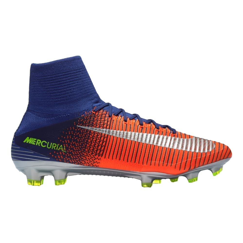huge selection of 4caaf 872ee Nike Mercurial Superfly V FG Cleats DEEP Royal Blue (7. 5) Buy Online at  Low Prices in India - Amazon.in