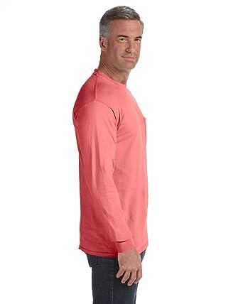 643d3d1c0dbb Comfort Colors 6.1 oz. Long-Sleeve Pocket T-Shirt at Amazon Men's ...