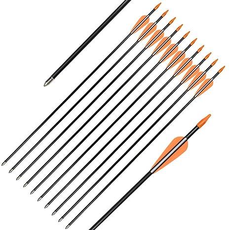 amazon com elong fiberglass arrows archery 24 inch target shootingelong fiberglass arrows archery 24 inch target shooting practice safetyglass recurve bows suitable for youth children