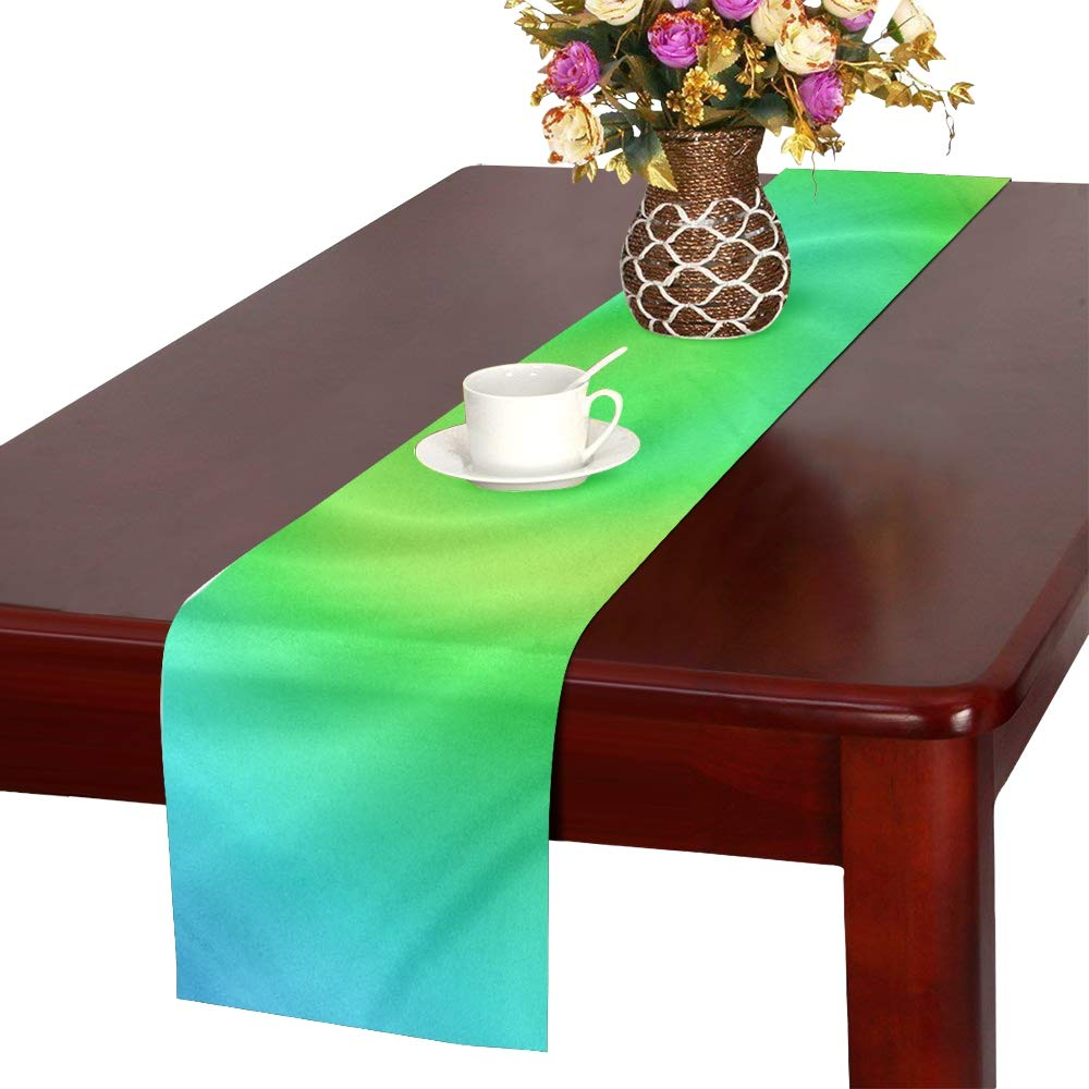 Eddy Movement Color Table Runner, Kitchen Dining Table Runner 16 X 72 Inch For Dinner Parties, Events, Decor