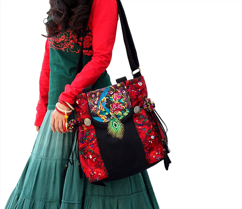 100% Handmade Handbag Purse Tote Shopper Bag - Fine Oriental Embroidery Art #152