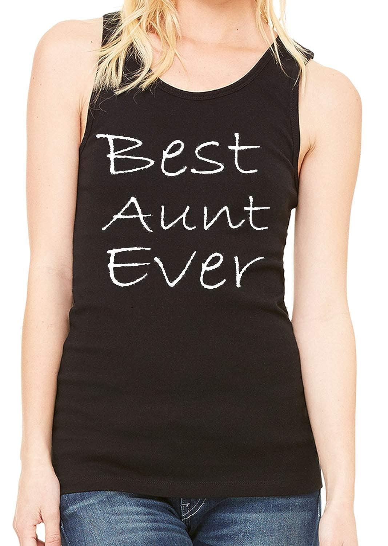 INKEEZY Girls//Junior Best Aunt Ever Tank Top