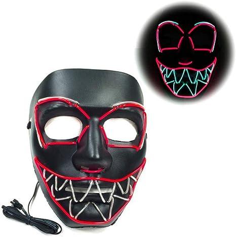 Doulaiwan Máscara De Halloween Led Máscaras De Purga Elección ...