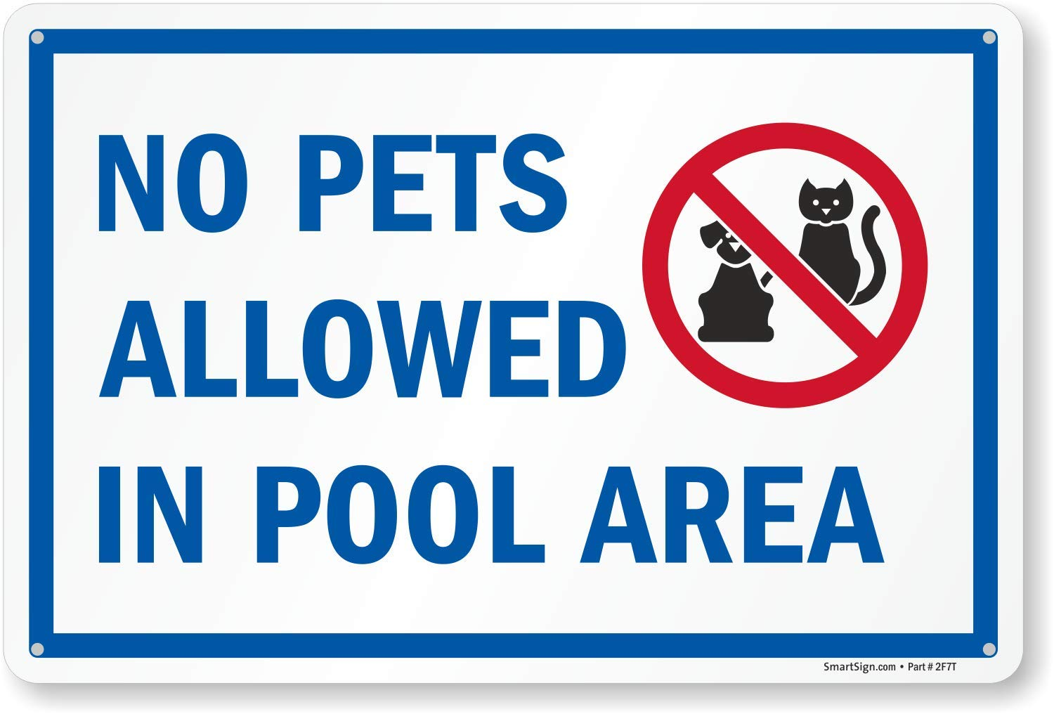 SmartSign ''No Pets Allowed in Pool Area'' Sign | 10'' x 15'' Plastic by SmartSign