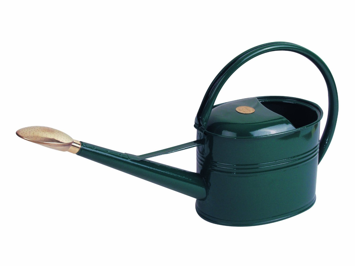 Haws Slimcan Metal Watering Can with Oval Rose,  1.3-Gallon/5-Liter, Green