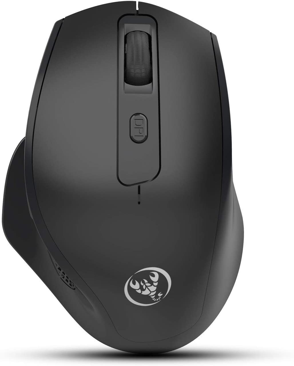 Vertical Mouse, Wired Ergonomic Mouse with RGB Lighting, 3 Adjustable DPI (800-1600-2400 DPI), 6 Buttons, Removable Wrist Rest, Optical Mouse for Laptop PC Computer