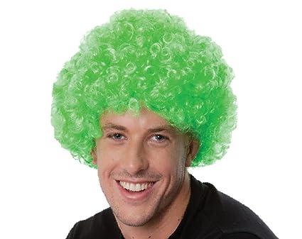 Kry Colorful Pelucas Corto rizos para fiestas de carnaval de pelucas Euro Cup ventiladores peluca corta