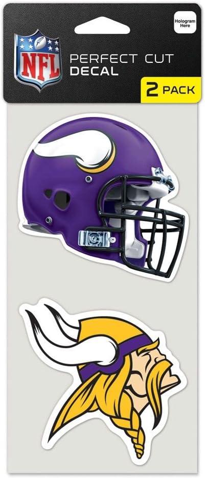 WinCraft NFL Minnesota Vikings Perfect Cut Decal (Set of 2), 4