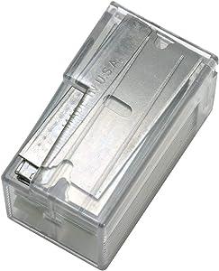 "Warner .009"" Single Edge Razor Blades in Dispenser, 10-Pack, 129"