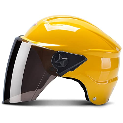 TZQ Fashion Battery Car Full Cover Street Fog Lady Half Helmet Man Casque