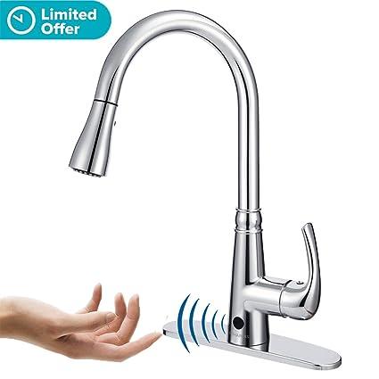 BOHARERS Kitchen Faucets Sensor Faucet Touch Motion Hands Free ...