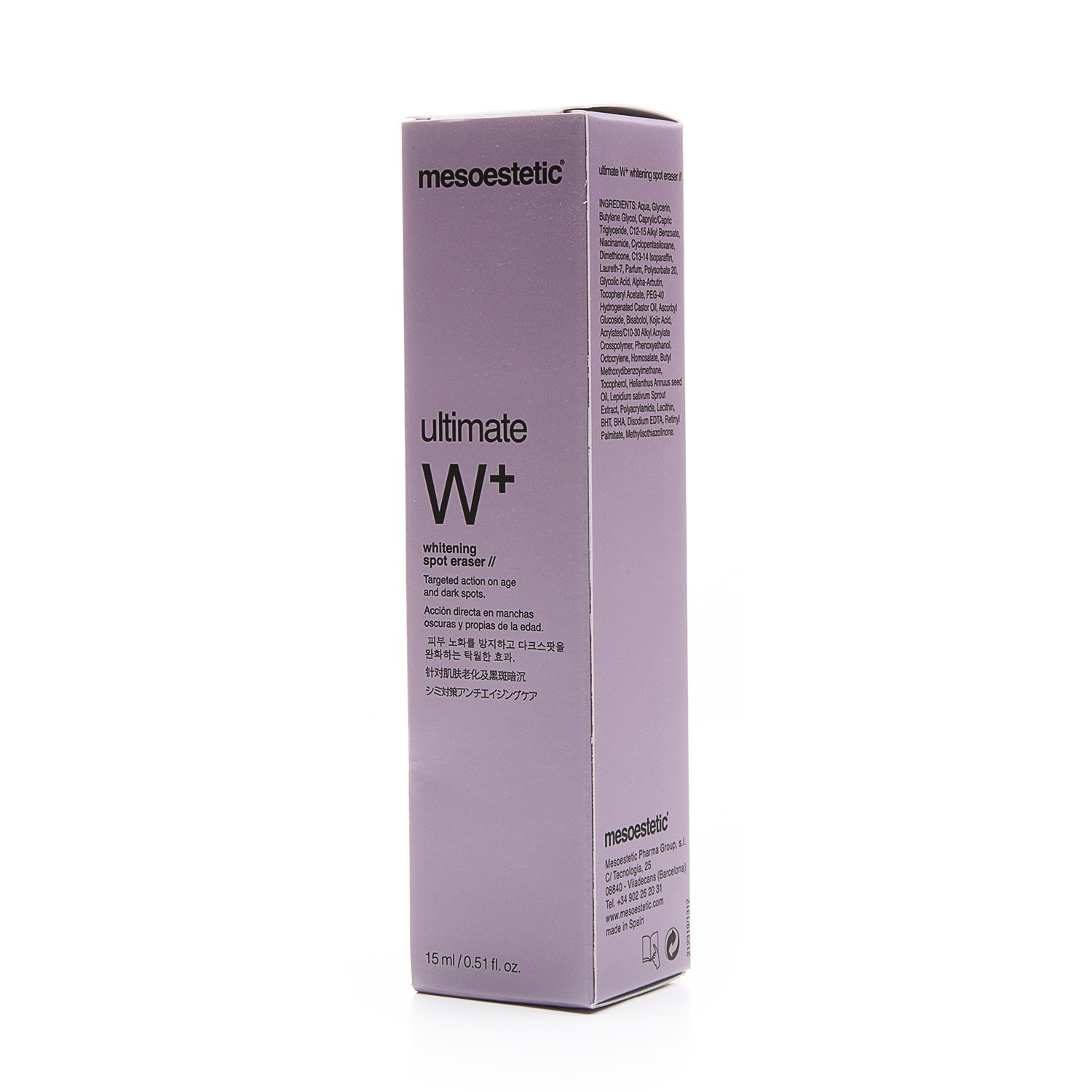 Ultimate W+ Whitening spot eraser (15 ml) by Mesoestetic