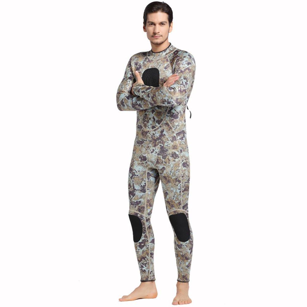 メンズ 3mm 迷彩柄 スピアフィッシング ウェットスーツ フルボディ スポーツスキン - ダイビング、シュノーケリング、水泳 B01N6EVJ7R 1023 XL XL|1023