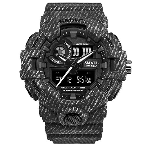 Mens-Digital-Watch-with-Dual-Display-and-Backlight-Waterproof-Sports-Watch