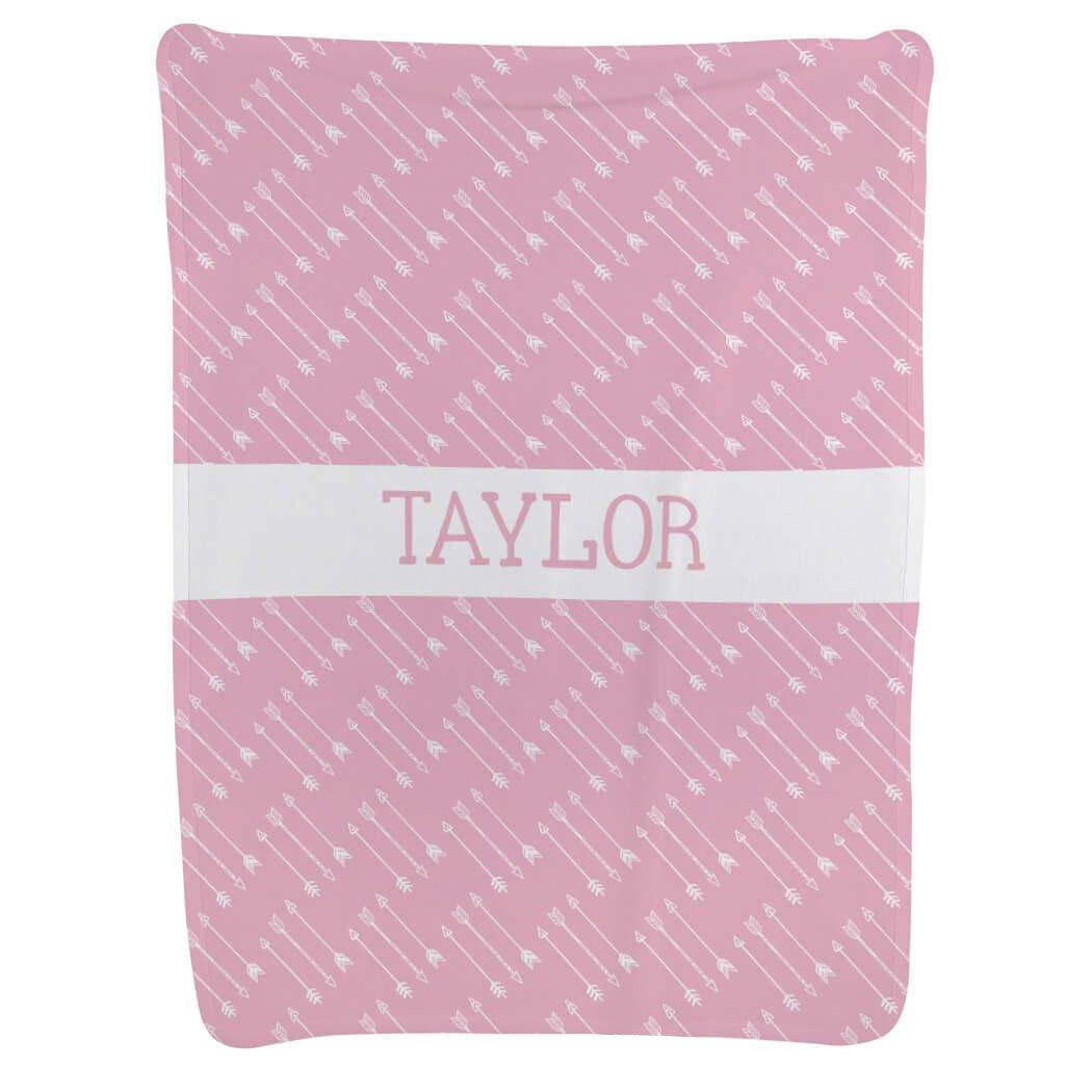 Baby & Infant Blanket | Arrows | Light Pink