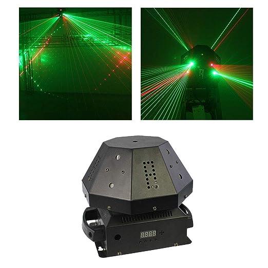 ✨ Stage DJ Lamp Flash 8 Hoyos Disco Proyección Luces Sonido ...