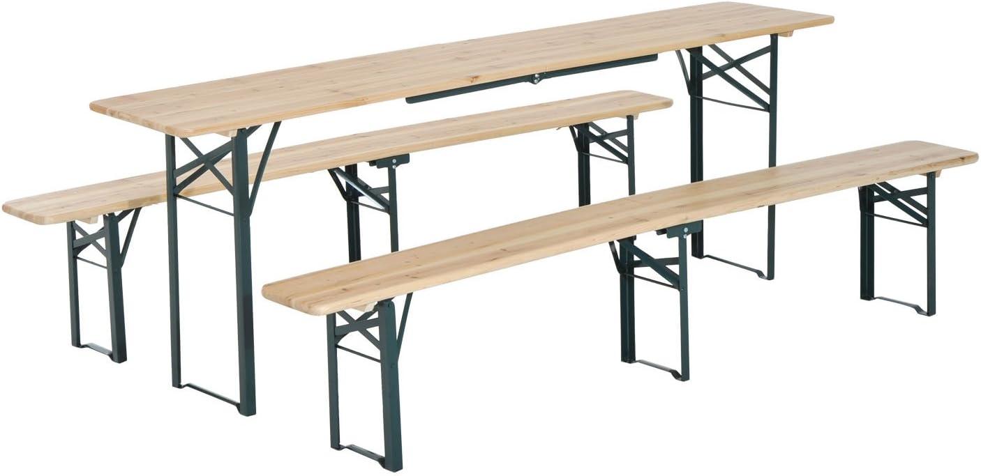 85 x 64.5 x 66.5 cm Blue Folding Picnic Table//seats