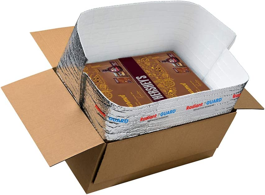 RadiantGUARD 14 in x 14 in x 14 in Food Grade Foil Insulated Box Liner| Pack of 15 | Reflective Foil Bubble Foam Thermal Insulation Bags – Reusable Lightweight Waterproof Moisture Barrier
