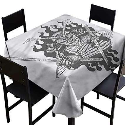 Amazon.com: haommhome Easy Care Tablecloth Japanese Ghost ...