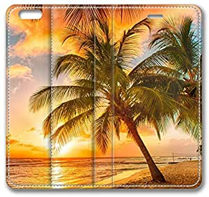 Palm Tree Tropical Beach iPhone 6 Wallet Case, Apple iPhone 6 (4.7