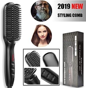 UKLISS cepillo alisador de cabello mejorado 2 en 1 alisador ...